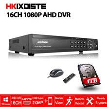 16 canales AHD DVR 1080 P DVR 16CH AHD AHD H 1920*1080 2.0MP CCTV Video grabador DVR NVR CVI sistema de Seguridad TVI HVR 5 en 1