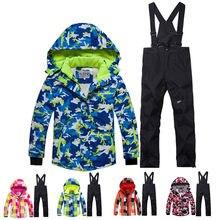 Зимний Детский костюм для снежной погоды, пальто, лыжный костюм, верхняя  одежда для девочек 955da822bd3