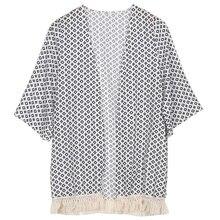 VENTA CALIENTE 2015 nuevo aririval Mujeres Tops Blusa de Las Mujeres Del Verano Tapa de La Gasa Del Mantón de la Rebeca Kimono Impreso Moda