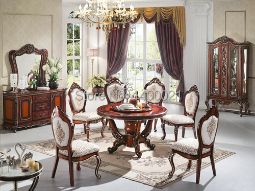 Luxury Wooden Ding Table And Chair, Classical Dining Set , Classical Round  Wooden Dining Table Part 79