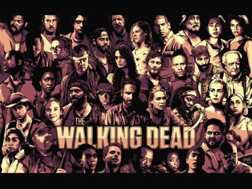 The Walking Dead Art TV Series- Art Wall Decor Fabric Poster P8428