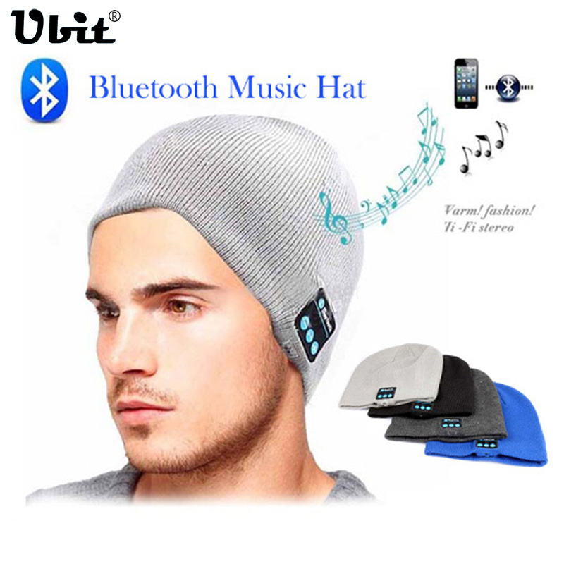 Ubit Men Women Outdoor Sport უსადენო Bluetooth ყურსასმენი სტერეო Magic Music Hat Smart Electronics Hat iPhone SmartPhone