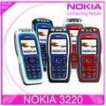 Reformado nokia 3220 gsm teléfono celular abierto original nokia teléfono de ayuda russian envío gratis