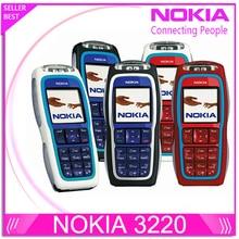 Восстановленное Nokia 3220 GSM сотовый телефон Оригинальный разблокирована Nokia Поддержка телефон русский польский Бесплатная доставка