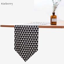 Hemp Decoration Mat Art Television Cabinet Table Strip Cover Cloth Bed Flag Estilete Camino De Mesa 100% Linen Banqueta