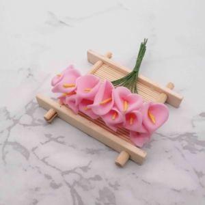 Image 4 - 144pcs מיני קצף כלה לילי מזויף פרחים זר פרחים מלאכותיים לקישוט חתונה חג אהבת קישוט הווה. ש
