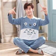 05b0eb11f4 Pijamas de dibujos animados de moda hombres ropa de primavera Otoño de  manga larga ropa de