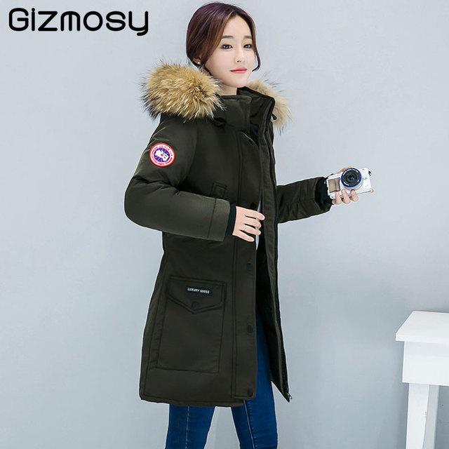 Aliexpress.com : Buy 2017 New Winter Down Jacket Women Large Fur ...