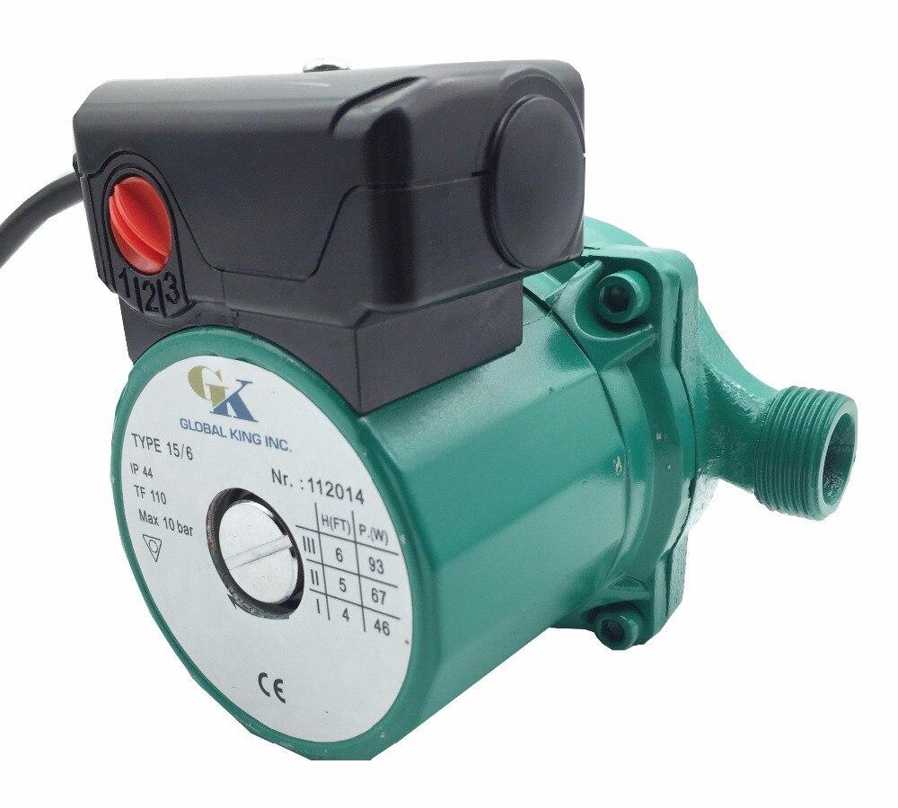 NPT 3/4\'\', 3 Speed Hot Water Circulator Pump 110V Household ...
