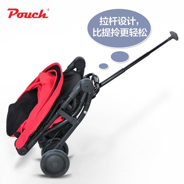 Pouch cochecito de bebé paraguas coche cesta hijo luz plegable del coche de bebé portable pocket bike
