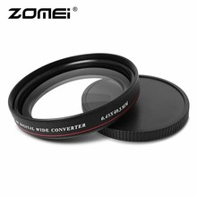 ZOMEI Ultra-thin 0.45X Wide Converter Wide Angle Multi-Coated Optical Glass Filter 40.5mm 49mm 52mm 58mm 62mm 67mm 72mm 77mm цена и фото