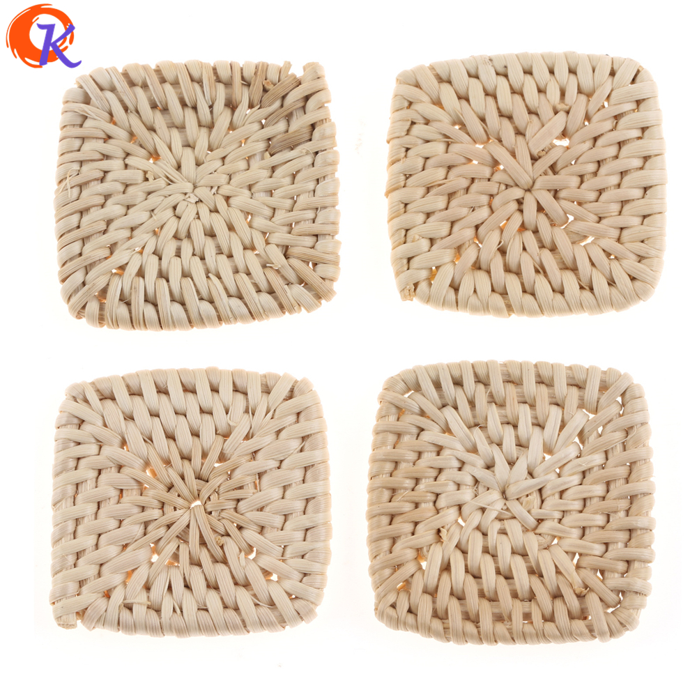 Cordial Design 20Pcs 45*45MM Jewelry Findings/Hand Made/Embellishment/Square Shape/Bamboo Rattan/Earring Accessories