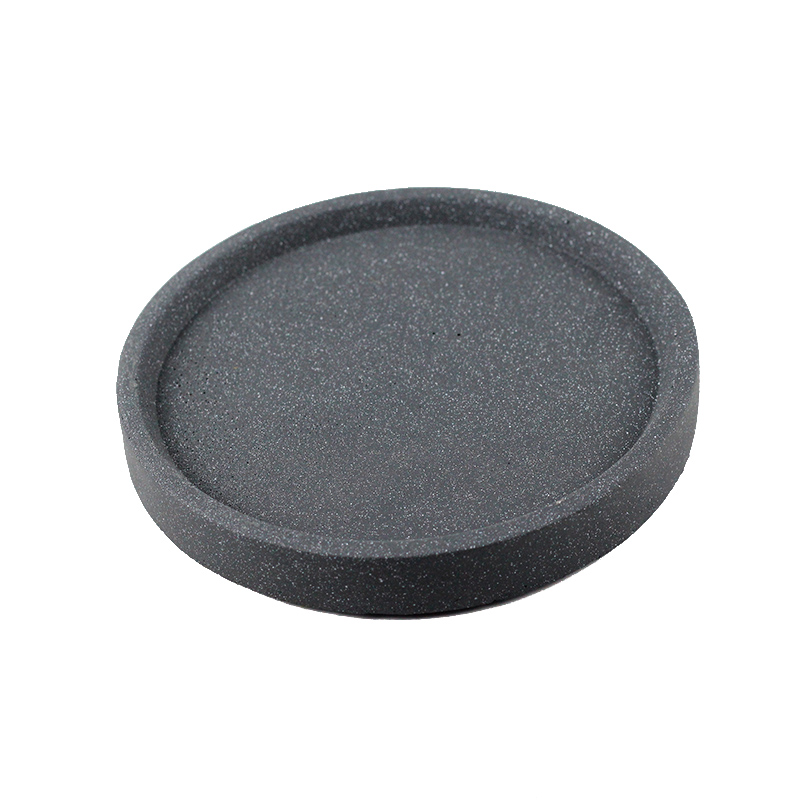 Nicole Silicone Mold Concrete Plate Mould Round Handmade Cement Tray Molds
