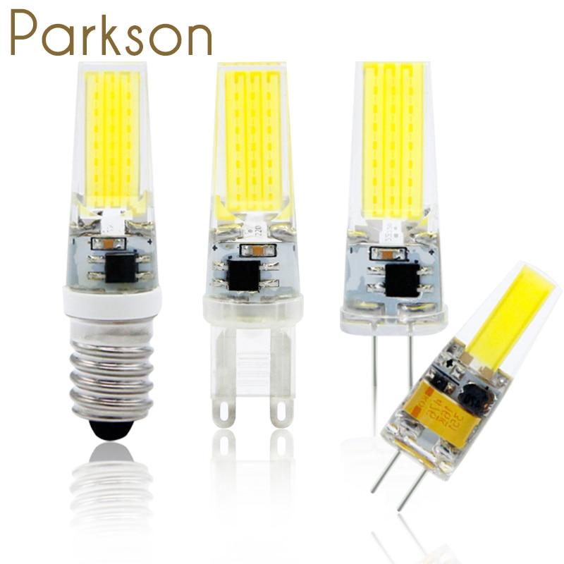 Лампада светодиодный светильник G9 G4 E14 AC DC 12 В 220 В 1 Вт 3 Вт amparas Bombillas светодиодный лампы g4 12 В COB чип Заменить галогенная лампа для люстры