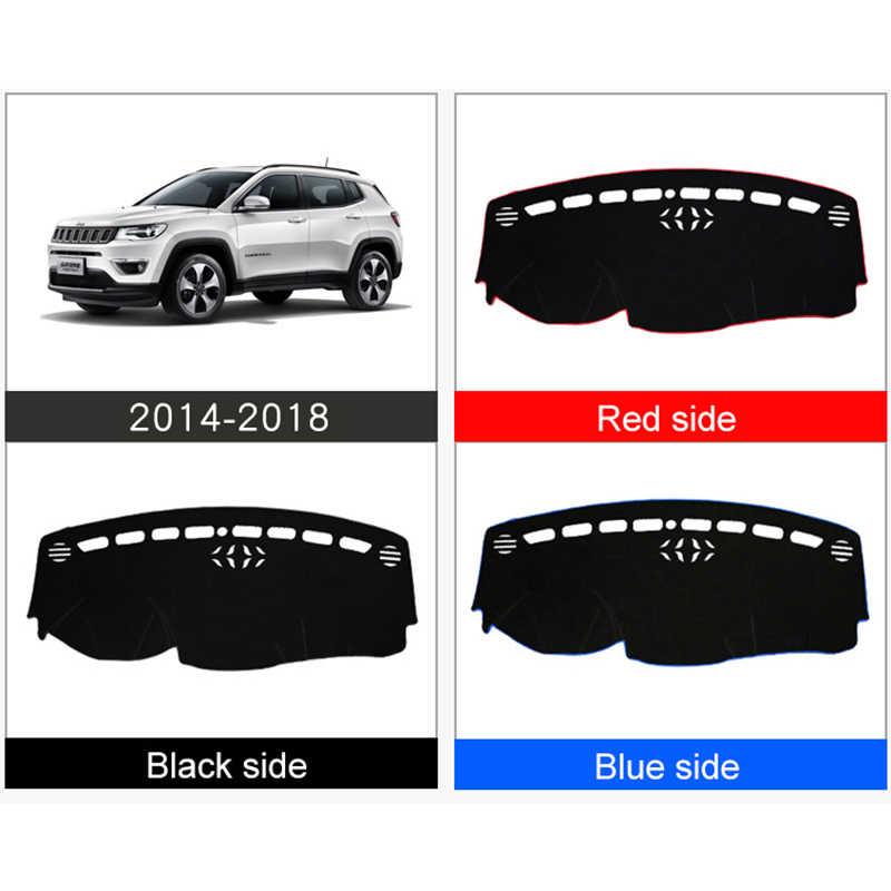 รถแดชบอร์ดหลีกเลี่ยง Pad Pad Light แพลตฟอร์มโต๊ะ Mats LHD สำหรับรถจี๊ปเข็มทิศ 2014 2015 2016 2017 2018 2019 อุปกรณ์เสริม