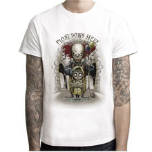 IT movie men summer T Shirt Men's stephen king printed Halloween pennywise it Custom High Quality clown Tops Tees male t-shirt