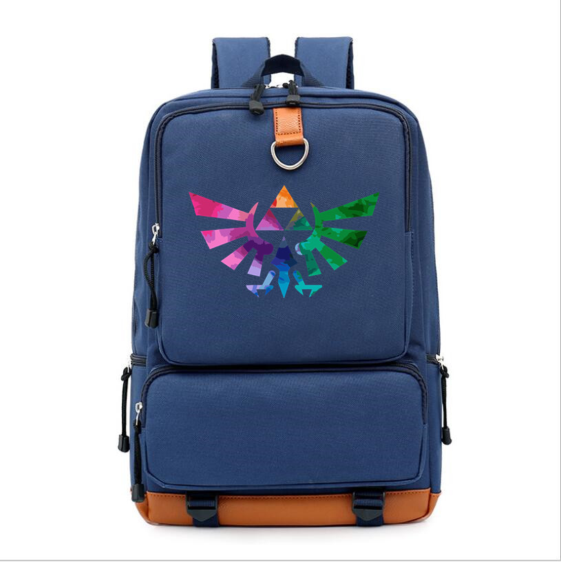 Hot game The Legend of Zelda Breath of the Wild blue backpack schoolbag forTeenagers Boys Girls men Shoulder Travel Mochila Bags