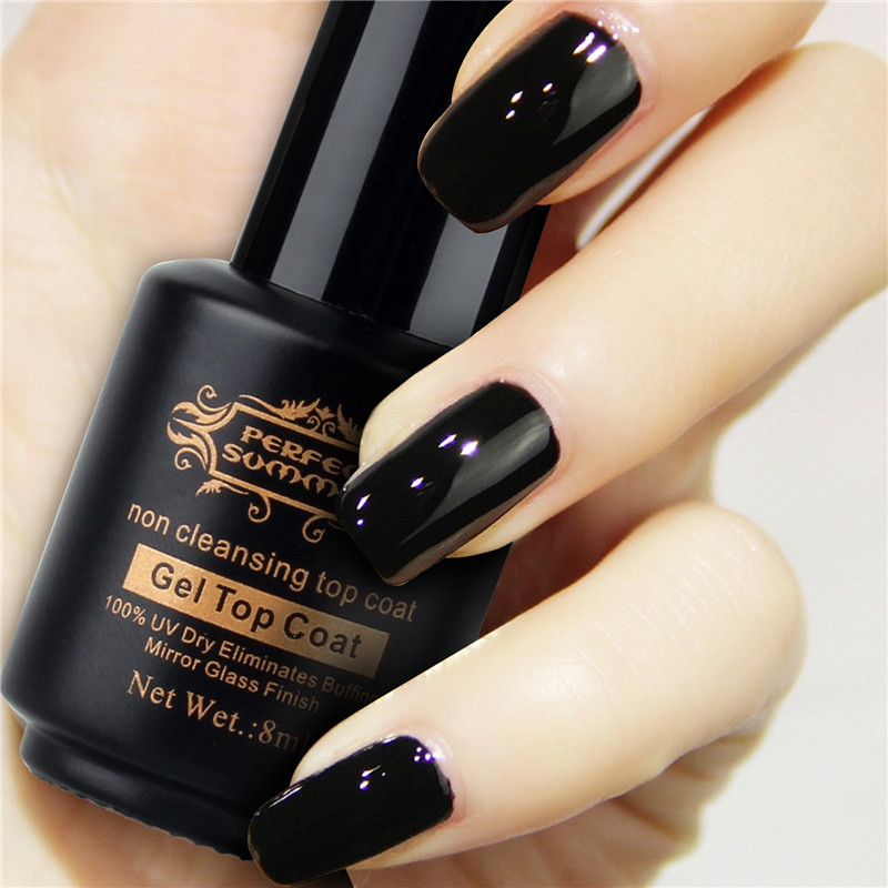 Perfect Summer Non Cleansing Finish Top Coat Soak Off Gel Nail Polish Uvled L Eliminates Buffing Mirror Gl Effect In Hair Clips Pins From