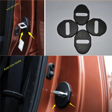 цена на Door Lock Guard Cover Trim For Mitsubishi Outlander 2013 - 2019 Pajero Sport 2013 - 2017 ASX 2013-2019 Protection Cover Kit