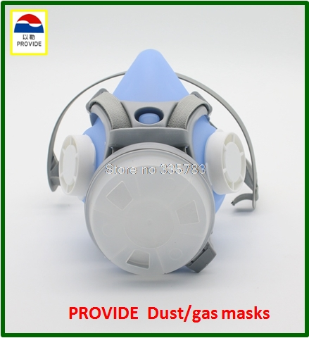 PROVIDE Anti-virus dust mask Silica gel sky blue respirator gas mask respirator gas mask 2 use respirator face mask provide respirator mask respirator mask silica gel dustproof gas masks boxe industrial safety chemical gas mask