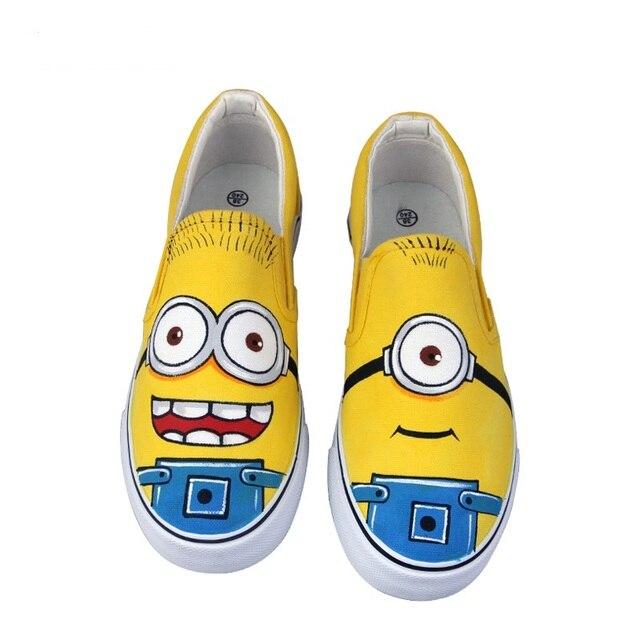 fd74a4675 Tamanho DA UE 35-44 25 Estilos! Anime Figura Asseclas Sapatos Pintados À Mão