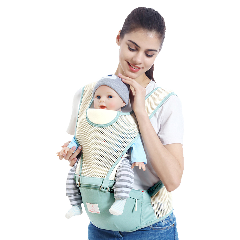 hot sale Baby Double Shoulder Strap Summer Breathable Baby Belt Multifunctional Baby Carrier Baby Waist Stool Belt Backpack hot sale hot sale car seat belts certificate of design patent seat belt for pregnant women care belly belt drive maternity saf