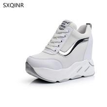 2018 Grua thembra e fshehur e modës së grave, Këpucë Rastesishme Platformë e Breathable Këpucë të Këpucëve të Grave