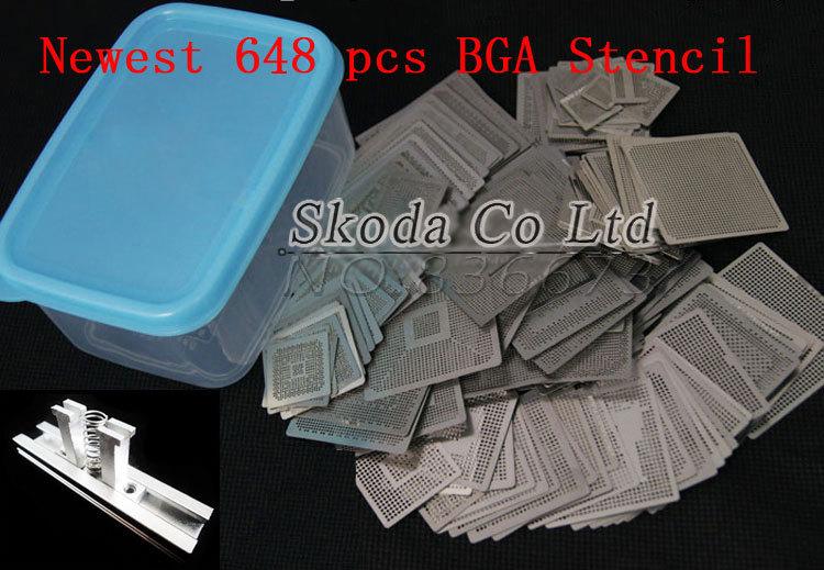 ФОТО Free shipping 2015 Newest BGA reballing kit for Reballing station Directly Heating Stencils + 648 PCS small BGA stencils