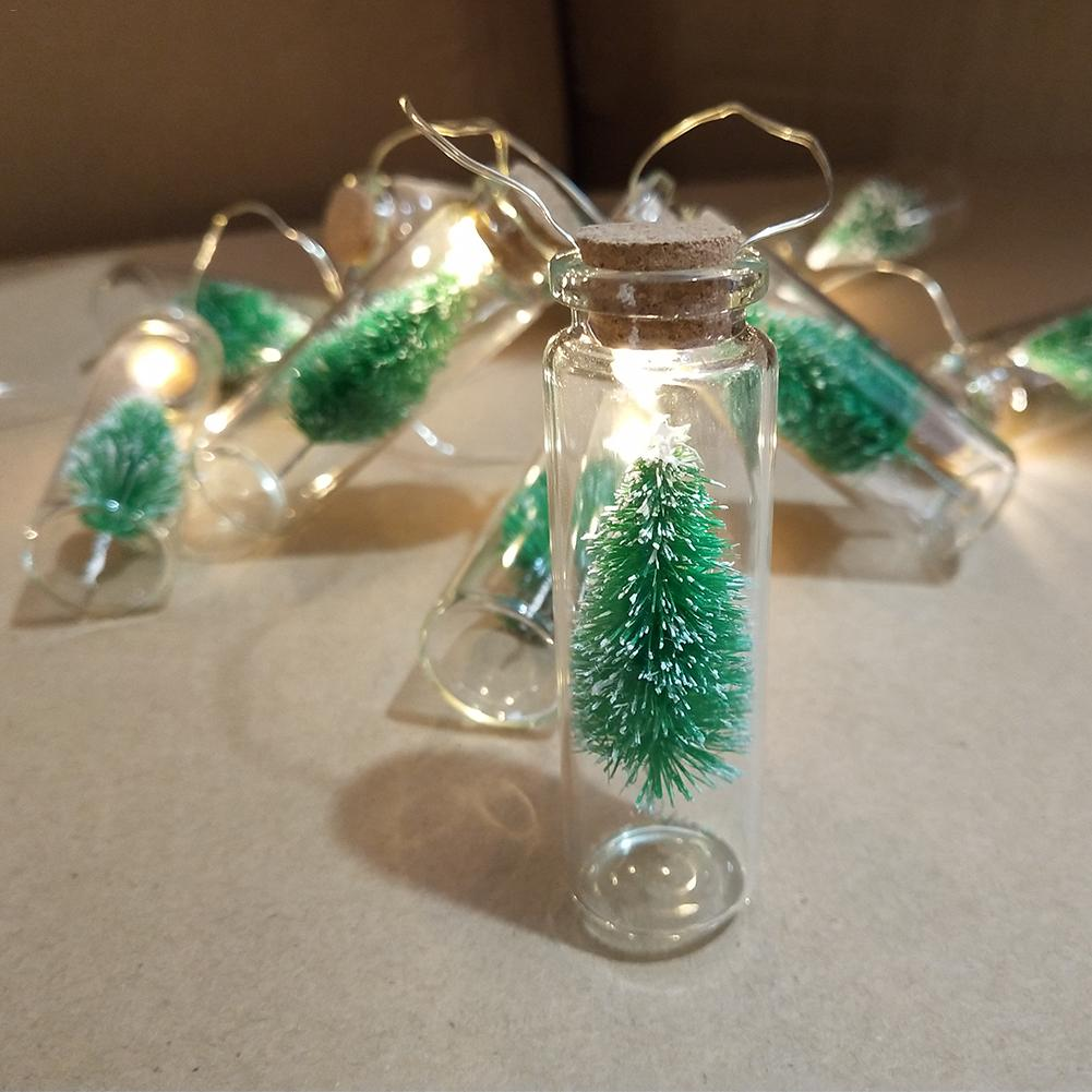 Bottles with a Christmas Tree - 10 LED lights per string 1