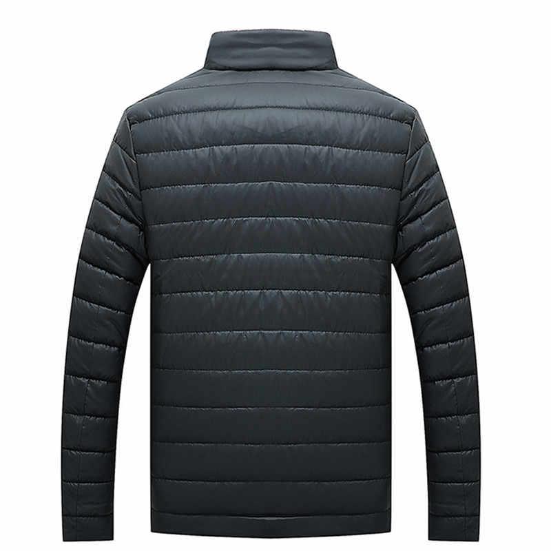 2018 新冬のジャケットの男性のコートの襟の綿のファッションブランドパーカー男性のジャケットやコートカジュアル暖かい上着スリムフィット 4XL