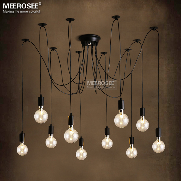 Modern decoration chandelier lighting fixture American style Metal Plastic suspension lamp fancy hanging light vintage lustres led lamp creative lights fabric lampshade painting chandelier iron vintage chandeliers american style indoor lighting fixture