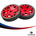 PQY RACING- 2pcs Cam Gears Pulley For MITSUBISHI EVO 1 2 3 4 5 6 7 8 9 ECLIPSE DSM 4G63 RED PQY6538R