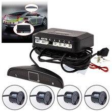 Car Parking Sensor System With 4 Sensors Car-detector Auto Backup Radar Detector Parktronics 4 Cars led display sound CY103-CN