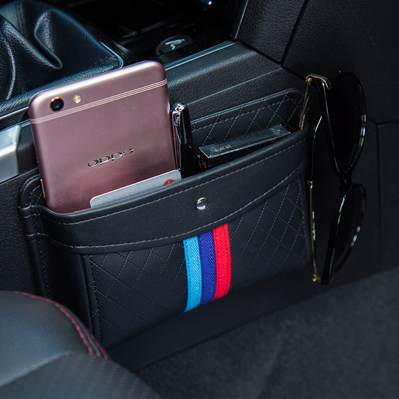 Car Net Organizer Pouch Pockets Car Storage Box Car gathering Bag For cards Mobile Phone sticky bag interior accessories цена 2017