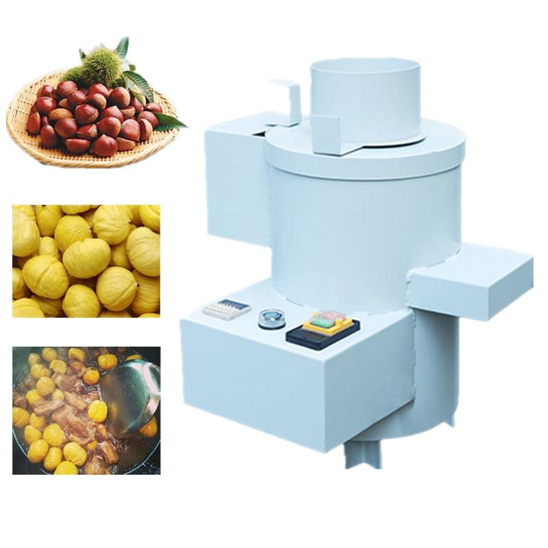 Automatic small chestnut sheller peeling machine with 6 bladesAutomatic small chestnut sheller peeling machine with 6 blades