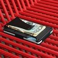 NewBring Tarjeta de Crédito y Sostenedores de la IDENTIFICACIÓN de Negocios Titular de la Cartera de Tarjeta de La caja de la Carpeta bolsa de La Cresta Cresta Mini clip del dinero