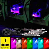 Free Shipping Super Bright Car LED Interior Decoration Lighting 4 9 LEDs 5050 Chip 4 In