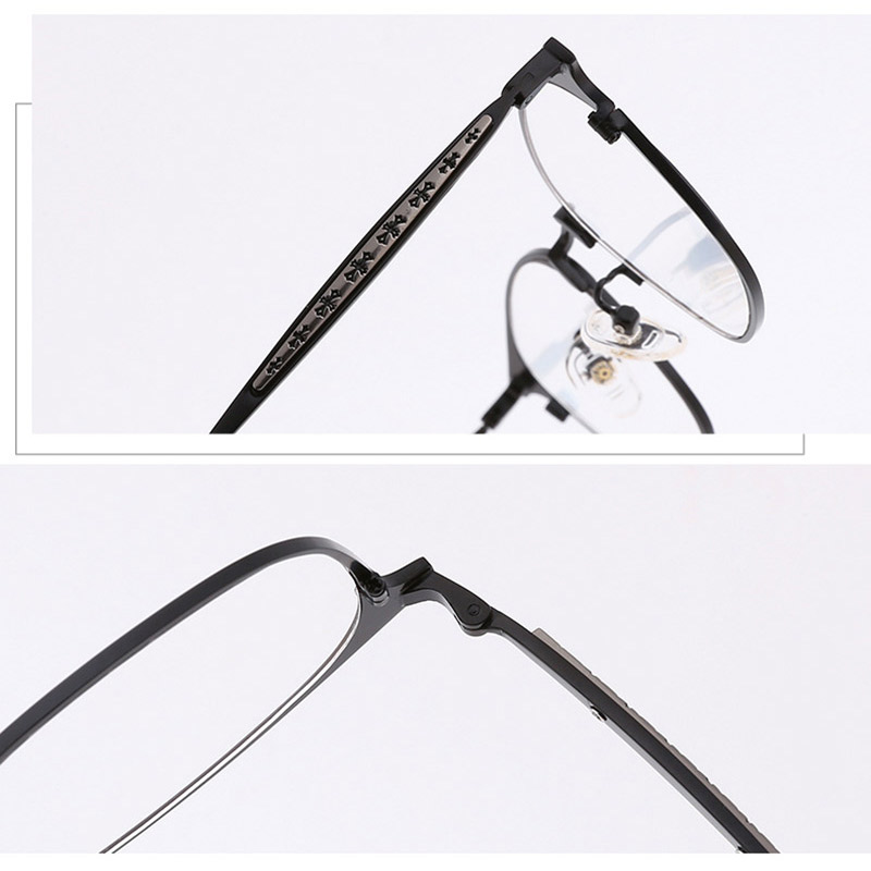 Alloy Fashion Eyeglasses Frame for Women and Men Prescription Eyewear Glasses Optical Frame Spectacles 8018 Full Rim Metal Frame in Men 39 s Eyewear Frames from Apparel Accessories
