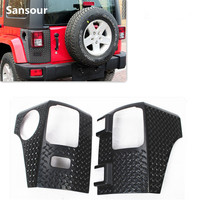 New Arrival OEM Factory Rear Corner Guard Body Armor Covers Exterior Trims For Jeep Wrangler 4 Door 07 up