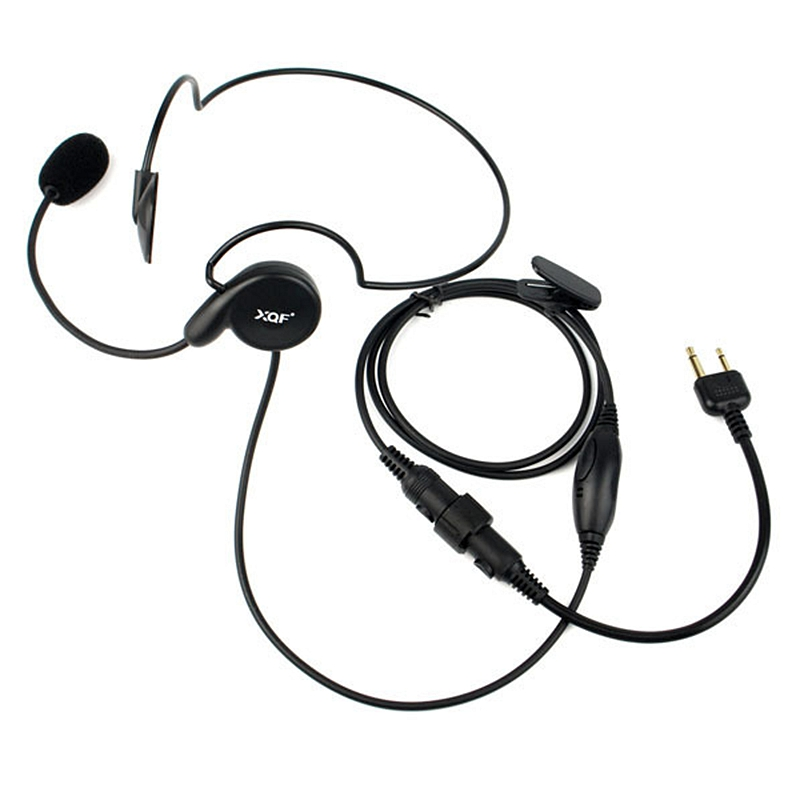Advanced Unilateral Headphone Mic Neckband Earpiece Cycling Field Tactical Headset For ICOM F3G, F4G, F11, F11S Two Way Radio