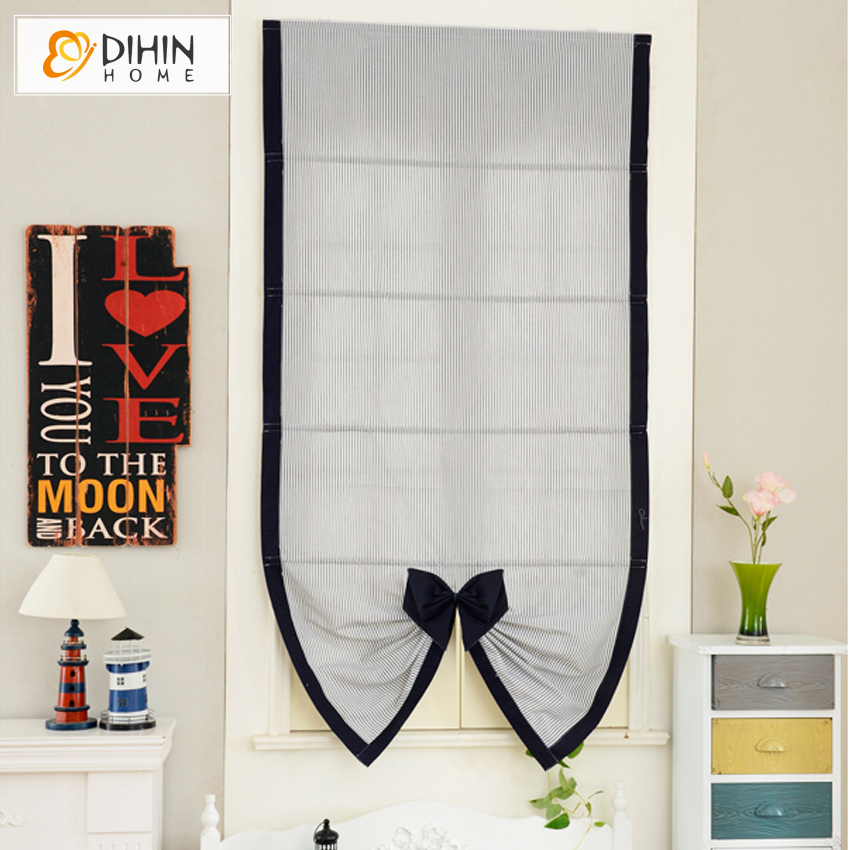 included curtains new arrival thickening lovely striped roman shade blinds finished curtain free