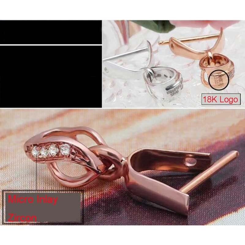 Livraison gratuite Micro incrustation Zircon or pendentif boucle Clip curseur bijoux connecteur fermoir - 5