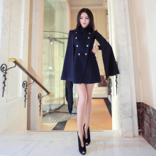 2017 Real Coats Bayan Kaban Winter Coat Color Colorful Autumn And New Europe Fashion Double Breasted