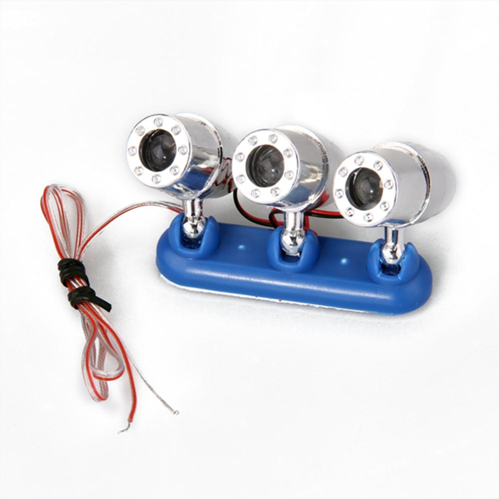 Qook Motorcycle Headlight Car LED RGB Emergency Warning Flash Strobe Light 12V 2W Driving Light fog lamp lens