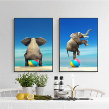 Elegant Poetry Elephant Circus Show Abstract Landscape Art Canvas Painting Print Poster Picture Wall Home Decor цена