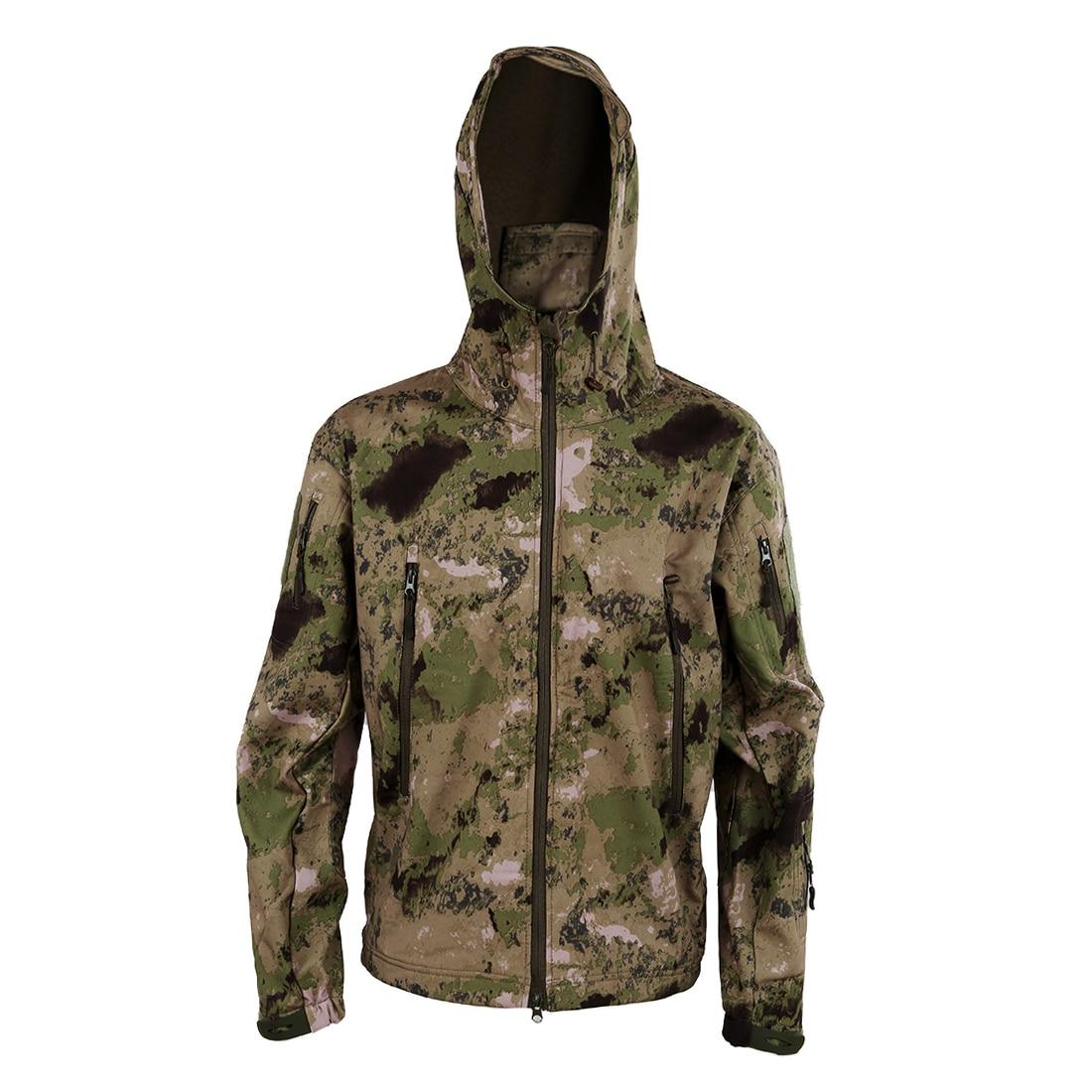 Intellective Men Fleece Waterproof Army Camouflage Hoody Hiking Clothing Set Camo Green/camo Yellow Xs-s-m-l-xl-xxl-xxxl Sports & Entertainment Hiking Jackets