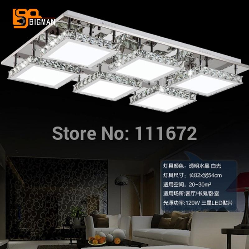 new modern rectangle LED Crystal Chandelier lamp crystal lighting for living room bedroom