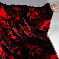 Dress fabric long sleeve shirt top grade silk velvet fabric cloth wedding young mother dress