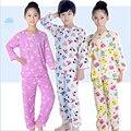 3M-12Y pijamas de verão crianças define 2016 novos meninos meninas pijamas ternos dos desenhos animados tops manga longa + longo calças crianças sleepwear