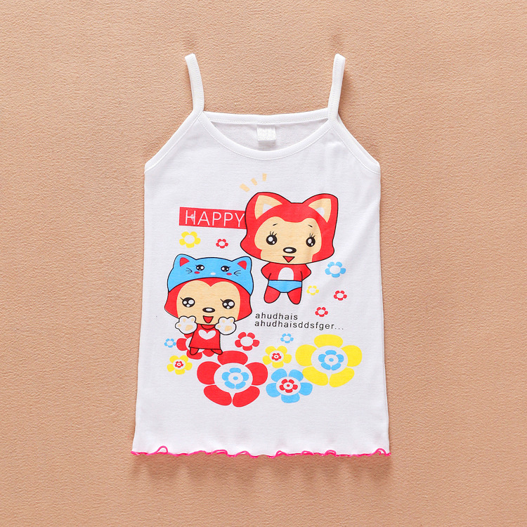 Kids Clothes Girls t shirt Summer Childrens Clothing Vest Girl T shirt Toddler Child Tshirt Sleeveless